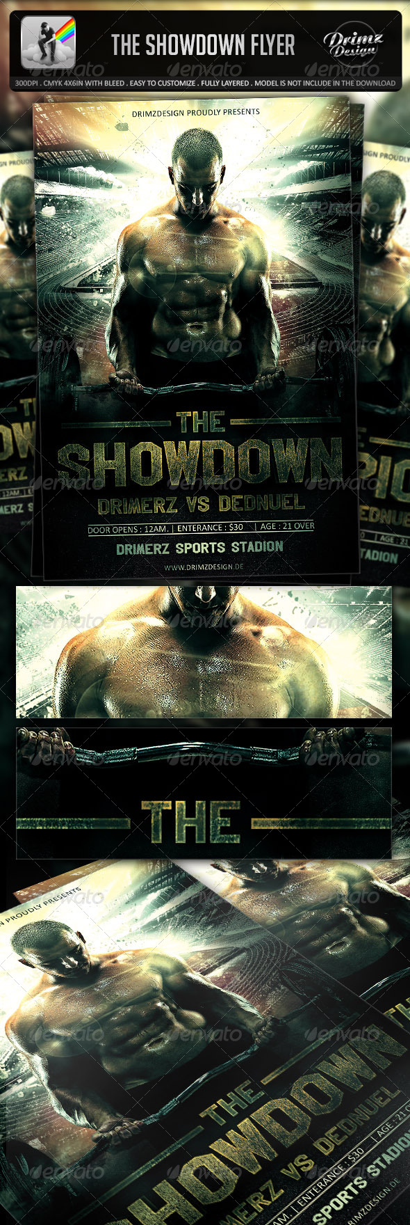 GraphicRiver The Showdown Flyer 7273427