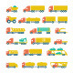 Set Flat Icons of Trucks, Trailers and Vehicles - GraphicRiver Item for Sale