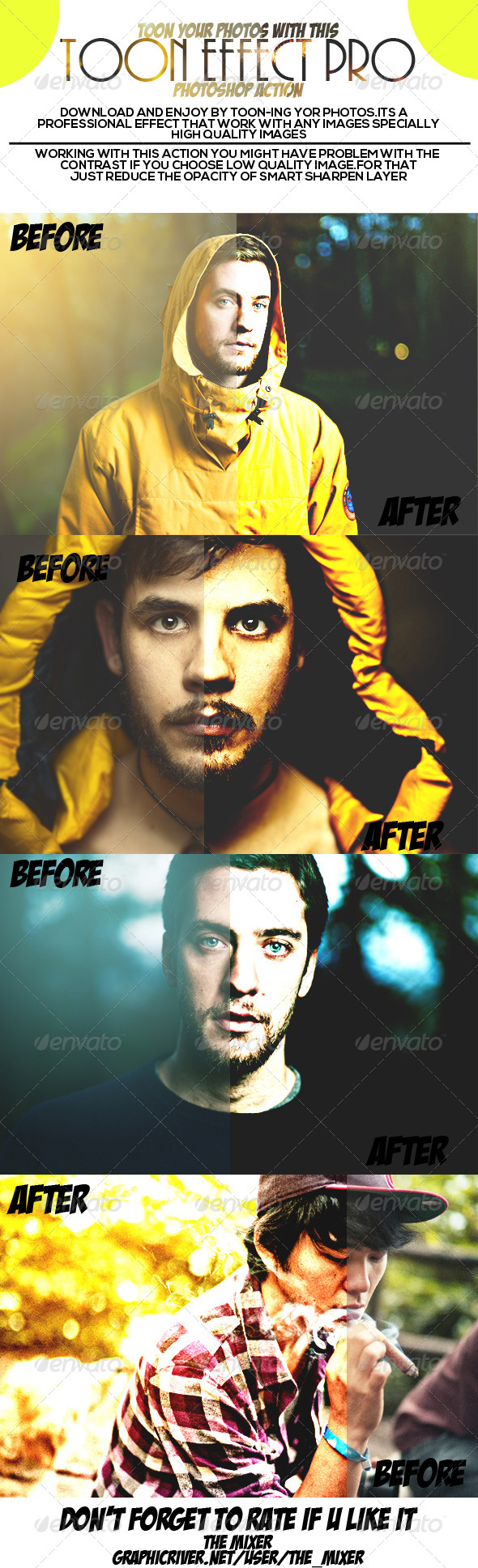 GraphicRiver Toon Effect Pro Photoshop Action 7252257