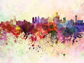 Dallas skyline in watercolor background - PhotoDune Item for Sale