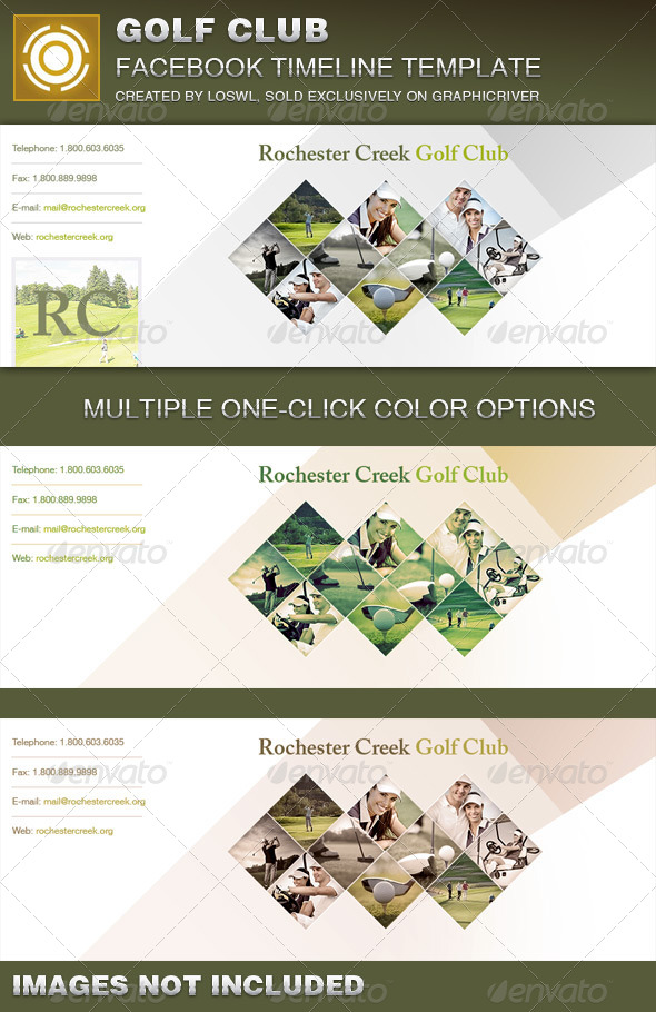 GraphicRiver Golf Club Facebook Timeline Cover Template 7252287