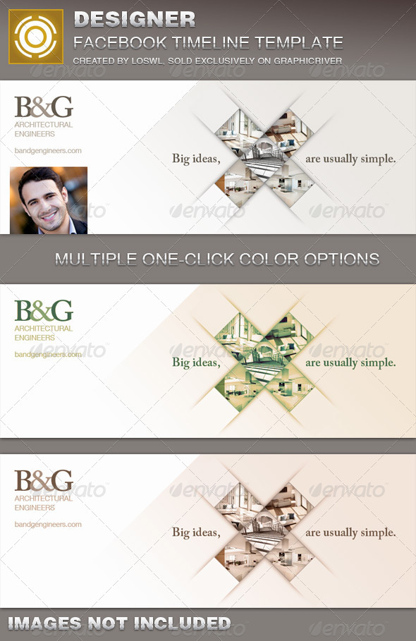 GraphicRiver Designer Facebook Timeline Cover Template 7255273