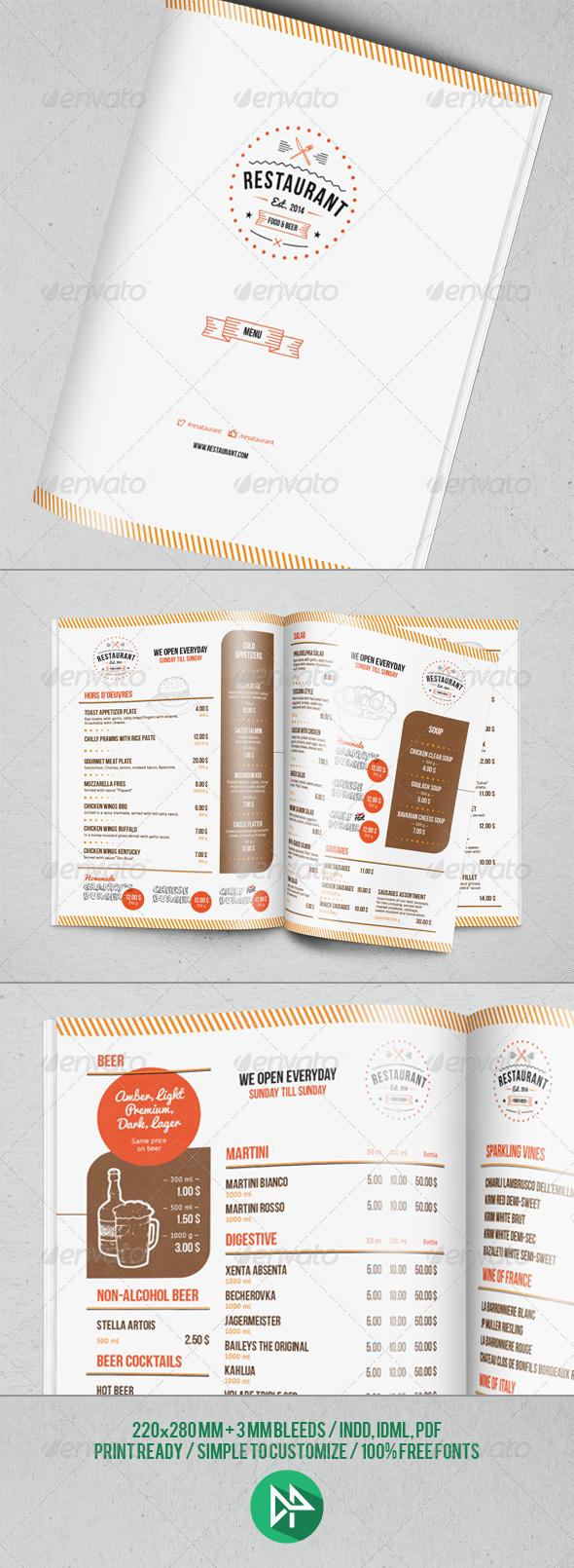 GraphicRiver Restaurant Menu Template 7054667