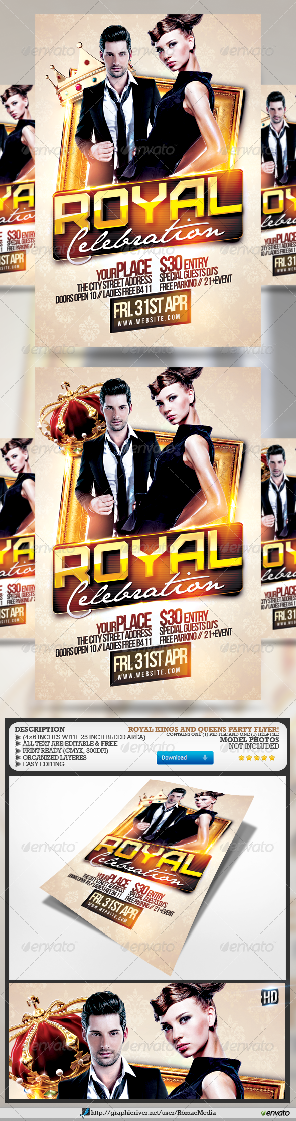 GraphicRiver Royal Party Flyer 7153082