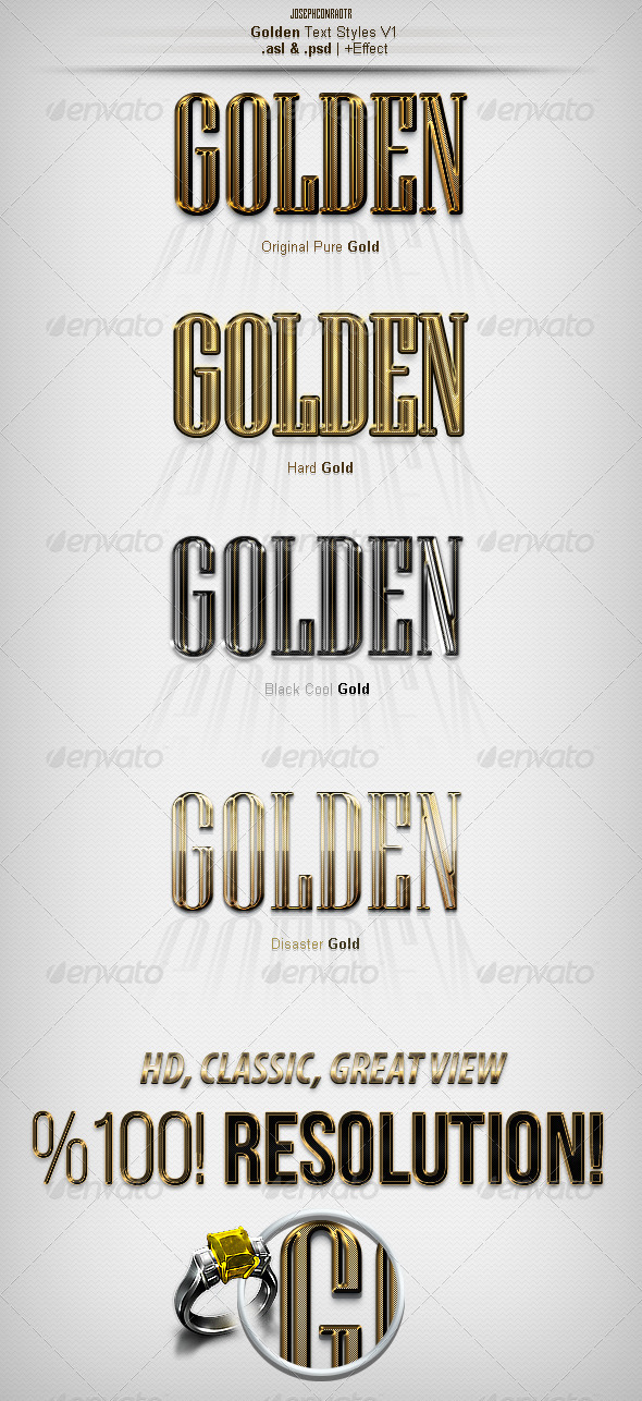GraphicRiver Golden Text Styles v1 7274386
