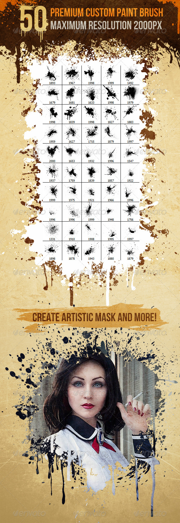 GraphicRiver 50 Premium Custom Paint Brush Splatter Volume 1 7274480