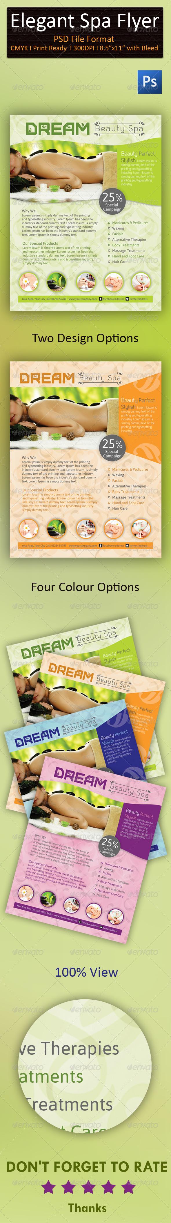 GraphicRiver Elegant Spa wellness Flyer 7251383