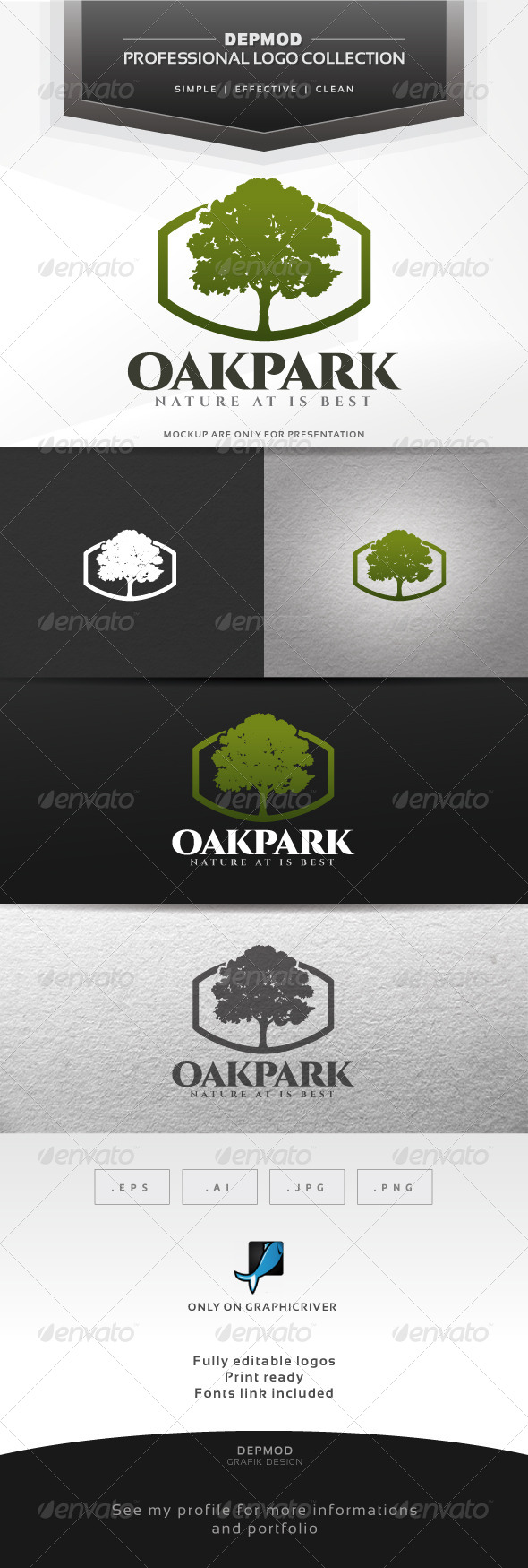 GraphicRiver Oak Park Logo 7278481