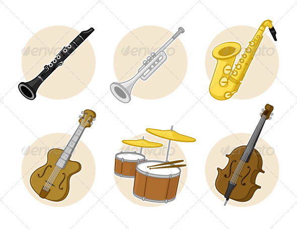 GraphicRiver Jazz Instruments 7278486