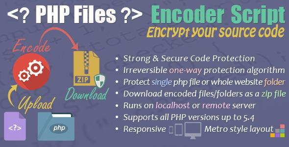 CodeCanyon PHP Files Encoder Script Responsive Metro Style 7278539