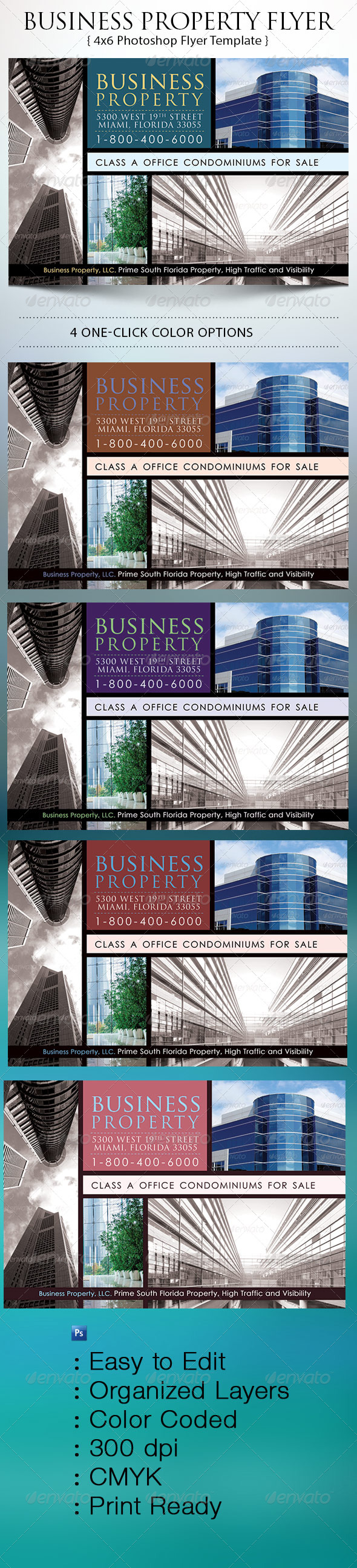 GraphicRiver Business Property Flyer 7255940
