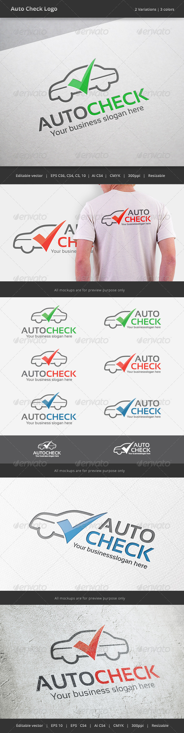 GraphicRiver Auto Check Car Logo 7278572