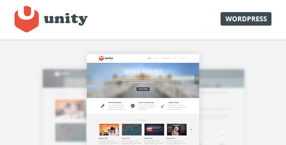 Unity - Multipurpose Wordpress Theme