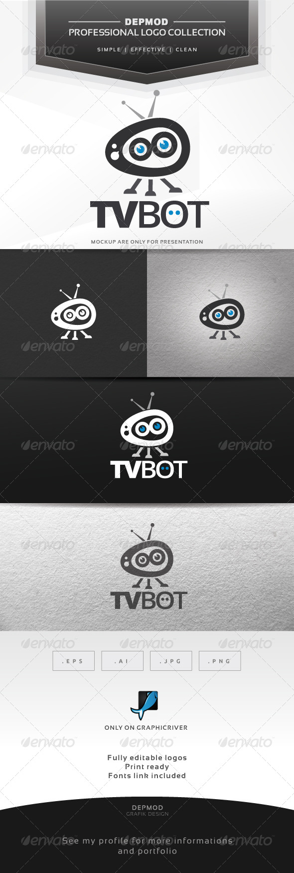 GraphicRiver TV Bot Logo 7278616