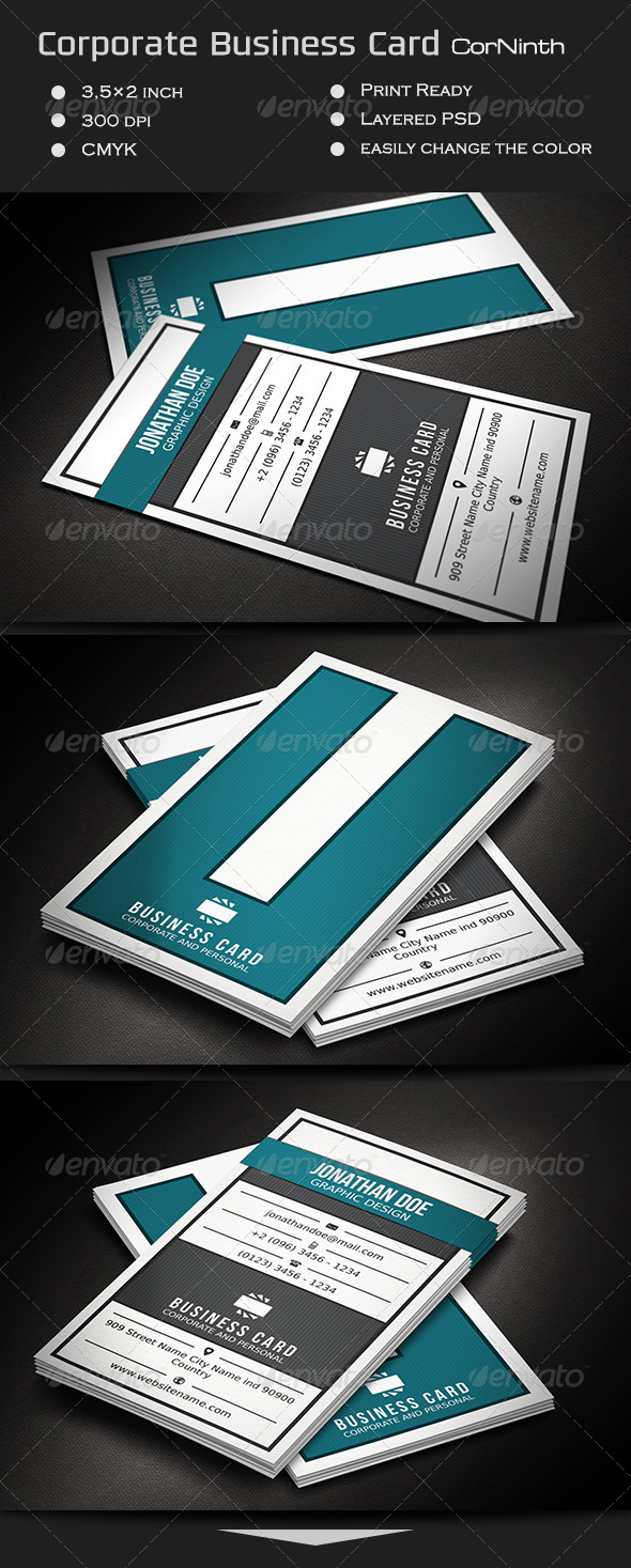 GraphicRiver Corporate Business Card CorNinth 7216824