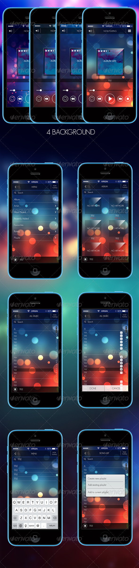 GraphicRiver Elegant Music Player GUI 5499961