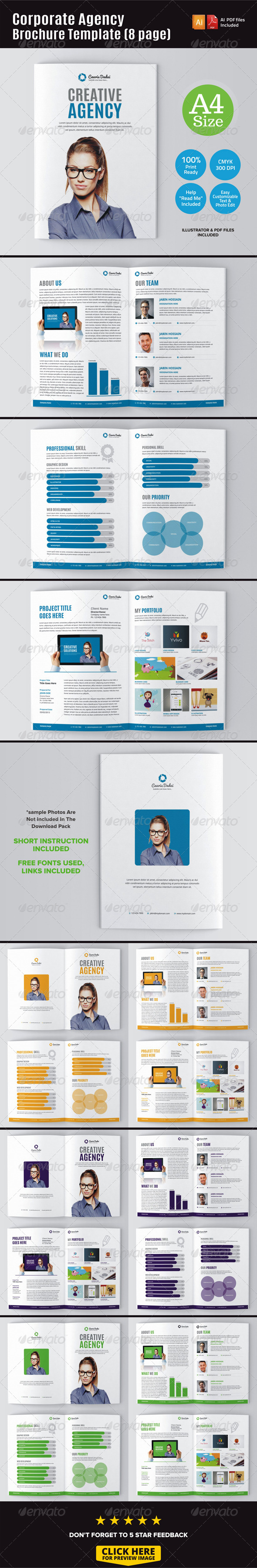 GraphicRiver Corporate Agency Brochure Template 8 Page 7278644