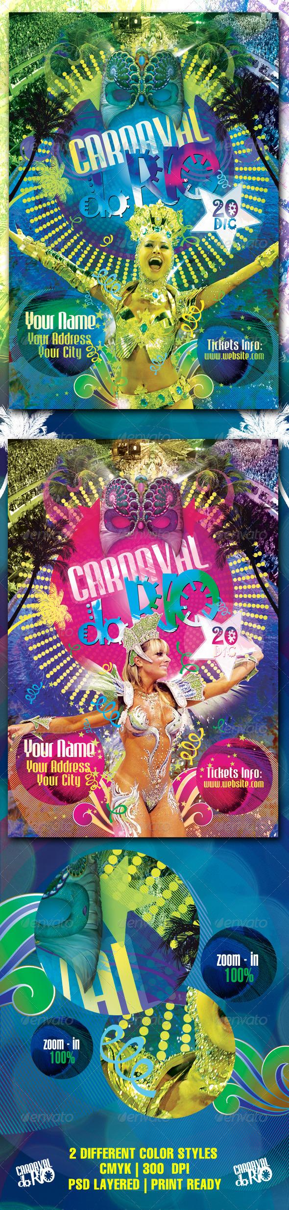 GraphicRiver Carnaval Do Rio Flyer Template 759052