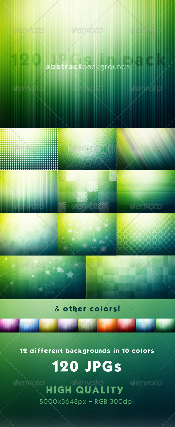 GraphicRiver Abstract Backgrounds 120 JPGs 7255712