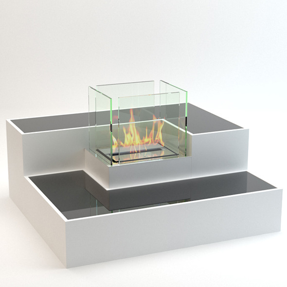 3DOcean Ethanol Fireplace 7278680