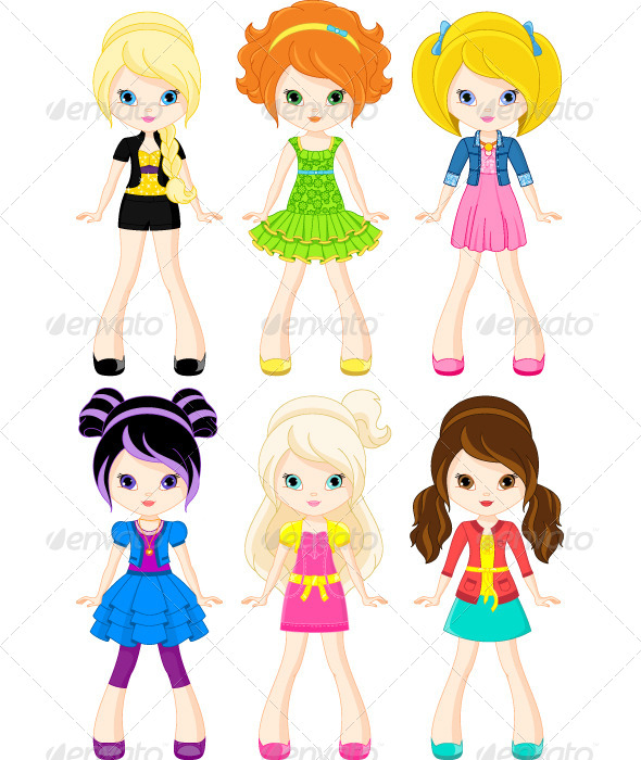 GraphicRiver Girl Characters 7278685