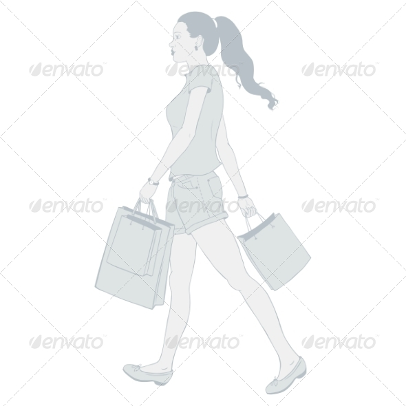 GraphicRiver Girl Shopping 7278690