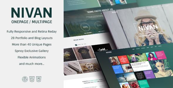 ThemeForest Nivan One Page Multi Page WordPress Theme 7156931