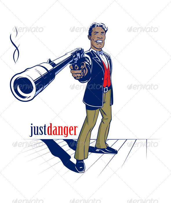 Graphic River Shooter Man  Vectors -  Characters  People 759152