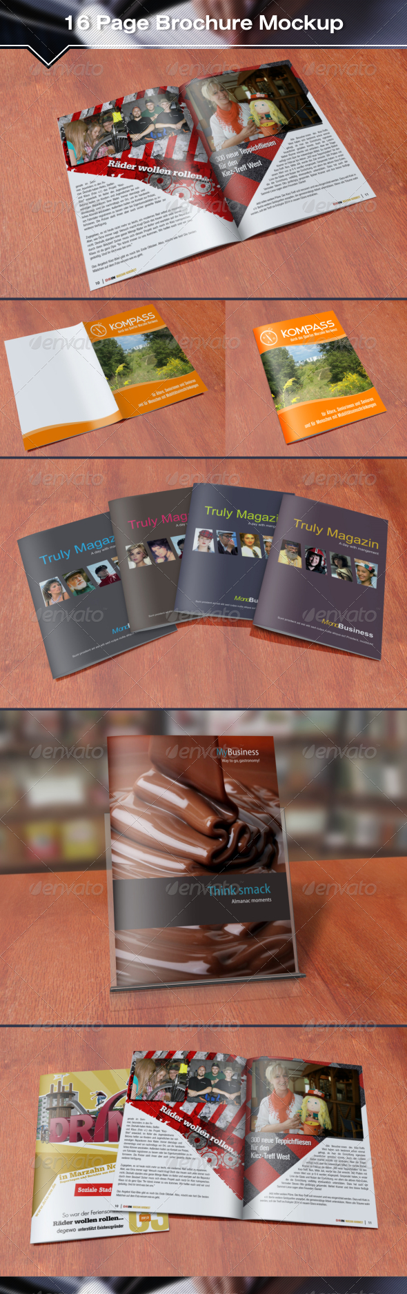 GraphicRiver 16 Page Brochure Mockup 7279054