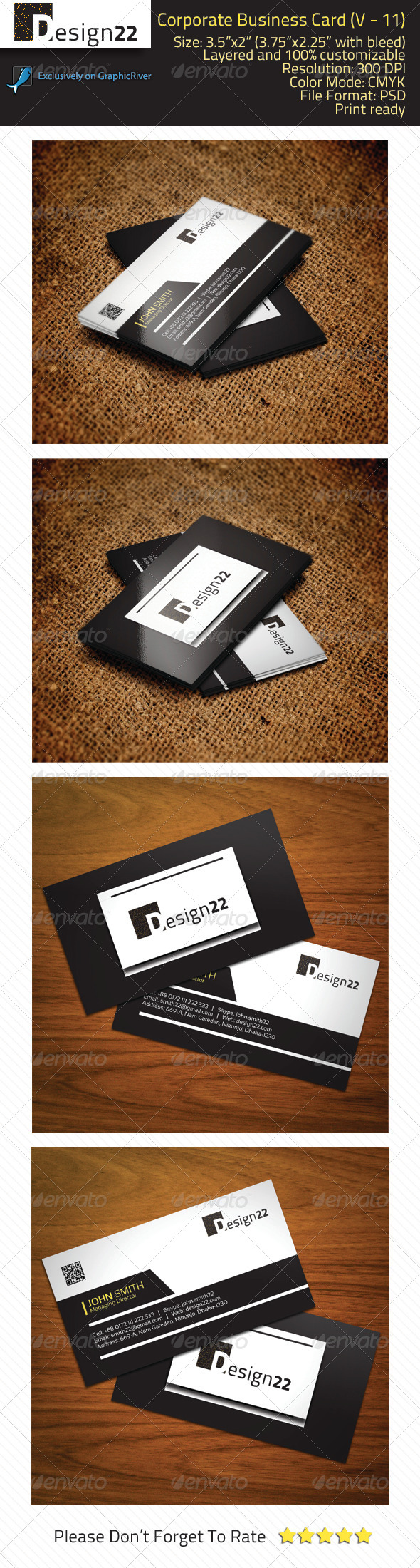 GraphicRiver Corporate Business Card V-11 7260076
