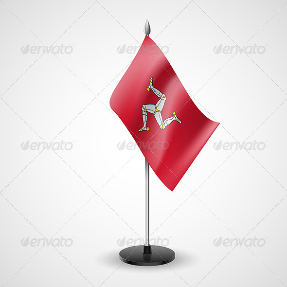 GraphicRiver Table Flag of Isle of Man 7279563