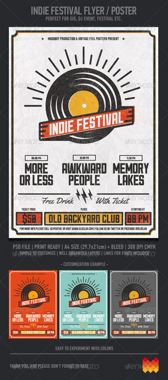 GraphicRiver Indie Festival 7255344