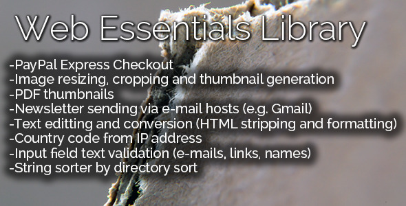 CodeCanyon Web Essentials Library 7279774