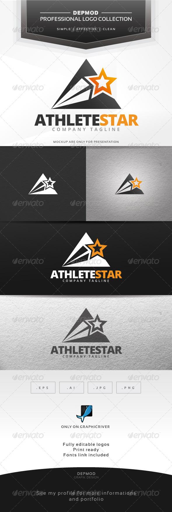 GraphicRiver Athlete Star Logo 7279896