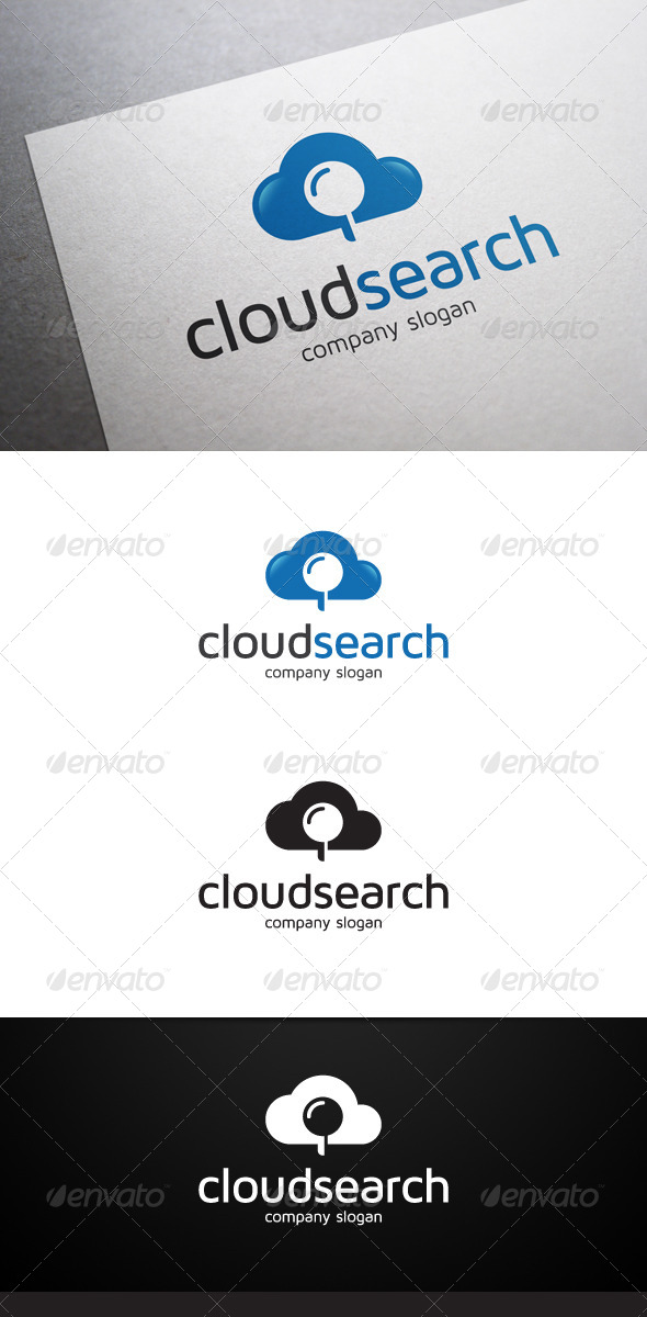 GraphicRiver Cloud Search Logo 7280027