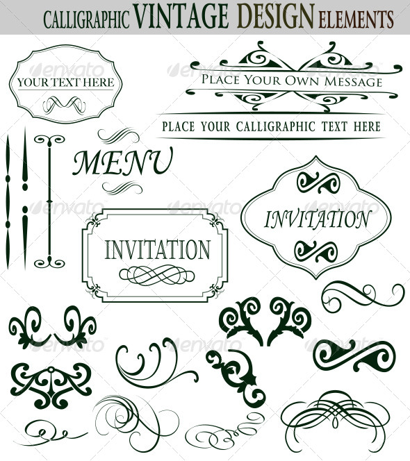 GraphicRiver Premium Quality Calligraphic Design Elements 7280137