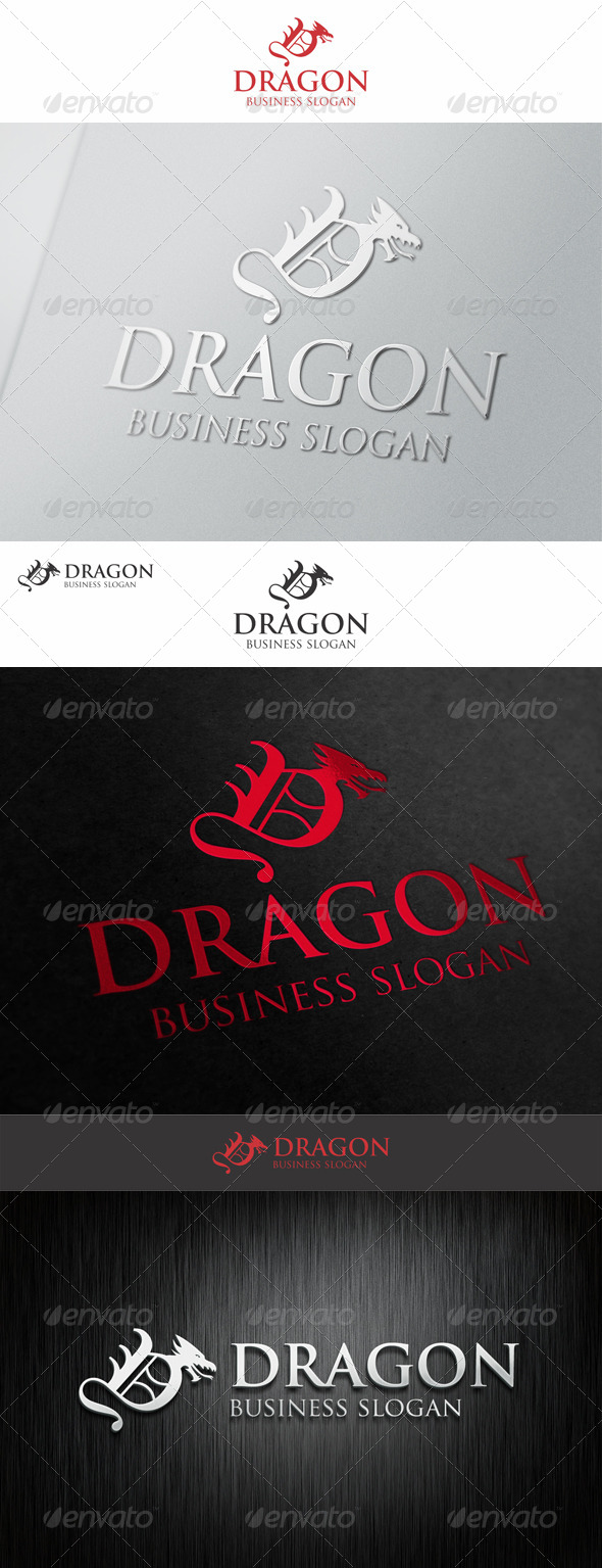 GraphicRiver Dragon Logo Letter D 7280206