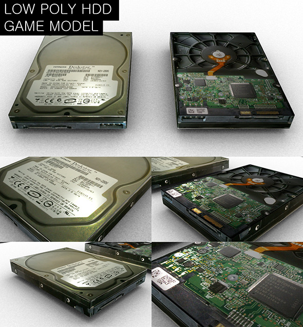 3DOcean Low Poly HDD Game Model 7280207