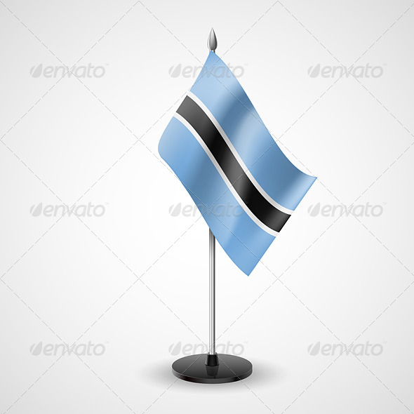 GraphicRiver Table Flag of Botswana 7280332