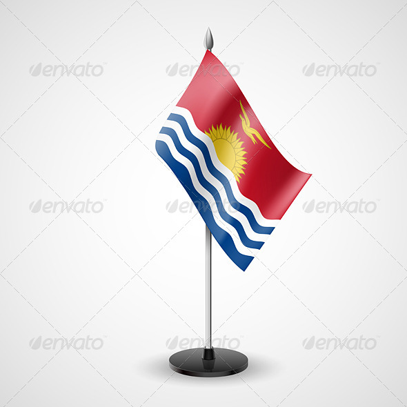 GraphicRiver Table Flag of Kiribati 7280702