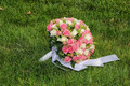 Wedding bouquet from roses in a grass - PhotoDune Item for Sale