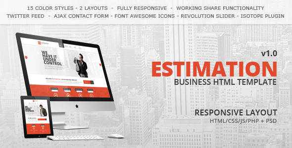 ThemeForest Estimation Responsive Business HTML Template 7280921