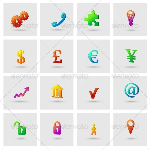 GraphicRiver Business Icons Set 7281165
