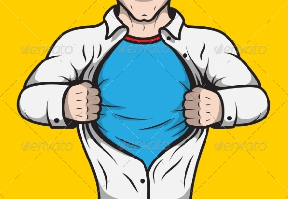 GraphicRiver Disguised Comic Book Superhero 7281175
