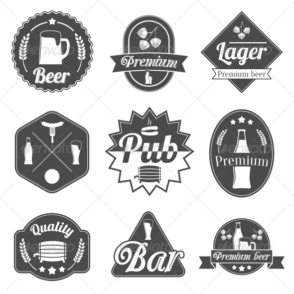 GraphicRiver Alcohol Beer Label Badges Collection 7281193