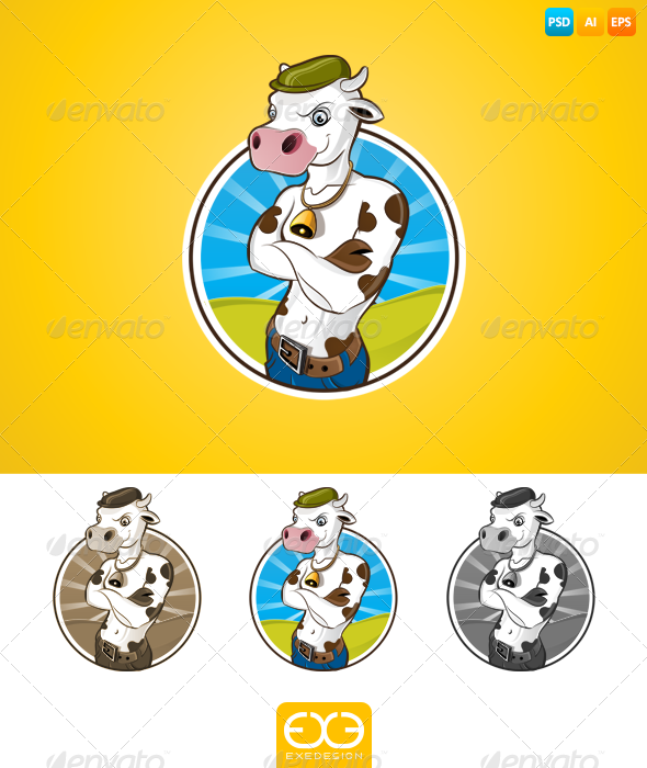 GraphicRiver Cow 7281197