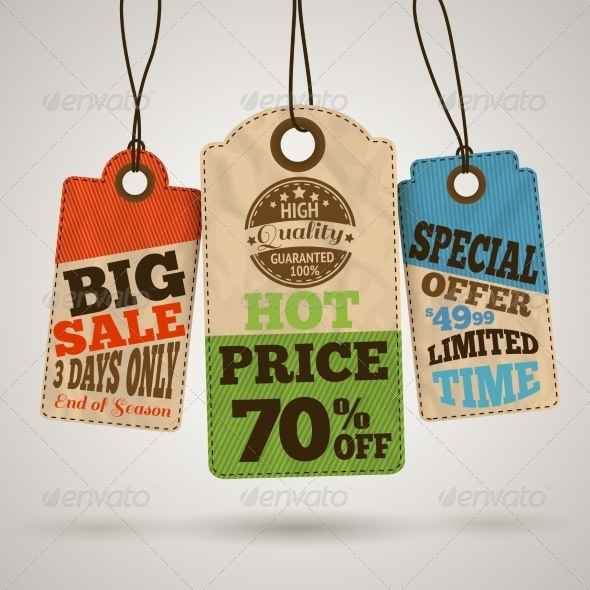 GraphicRiver Collection of Cardboard Sale Price Tags 7281248