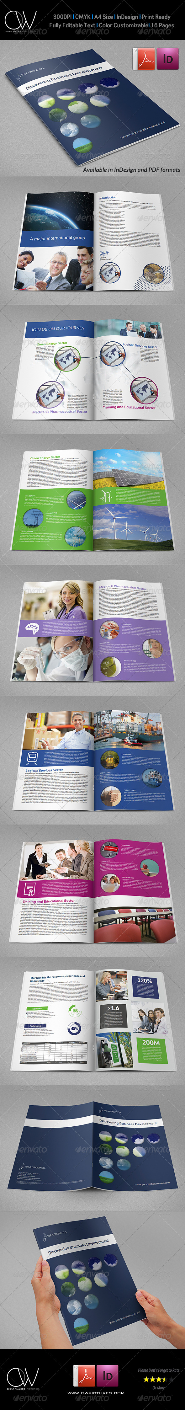 GraphicRiver Corporate Brochure Template Vol.33 16 Pages 7281253