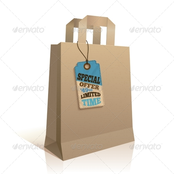 GraphicRiver Paper Shopping Bag with Tag 7281251