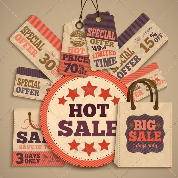 GraphicRiver Cardboard Sale Design Concept 7281255